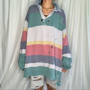 Distressed Rugby Top